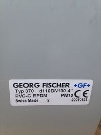 Шаровый кран +GF+ Kugelhahn 370 PVC-C  d-110 DN 100