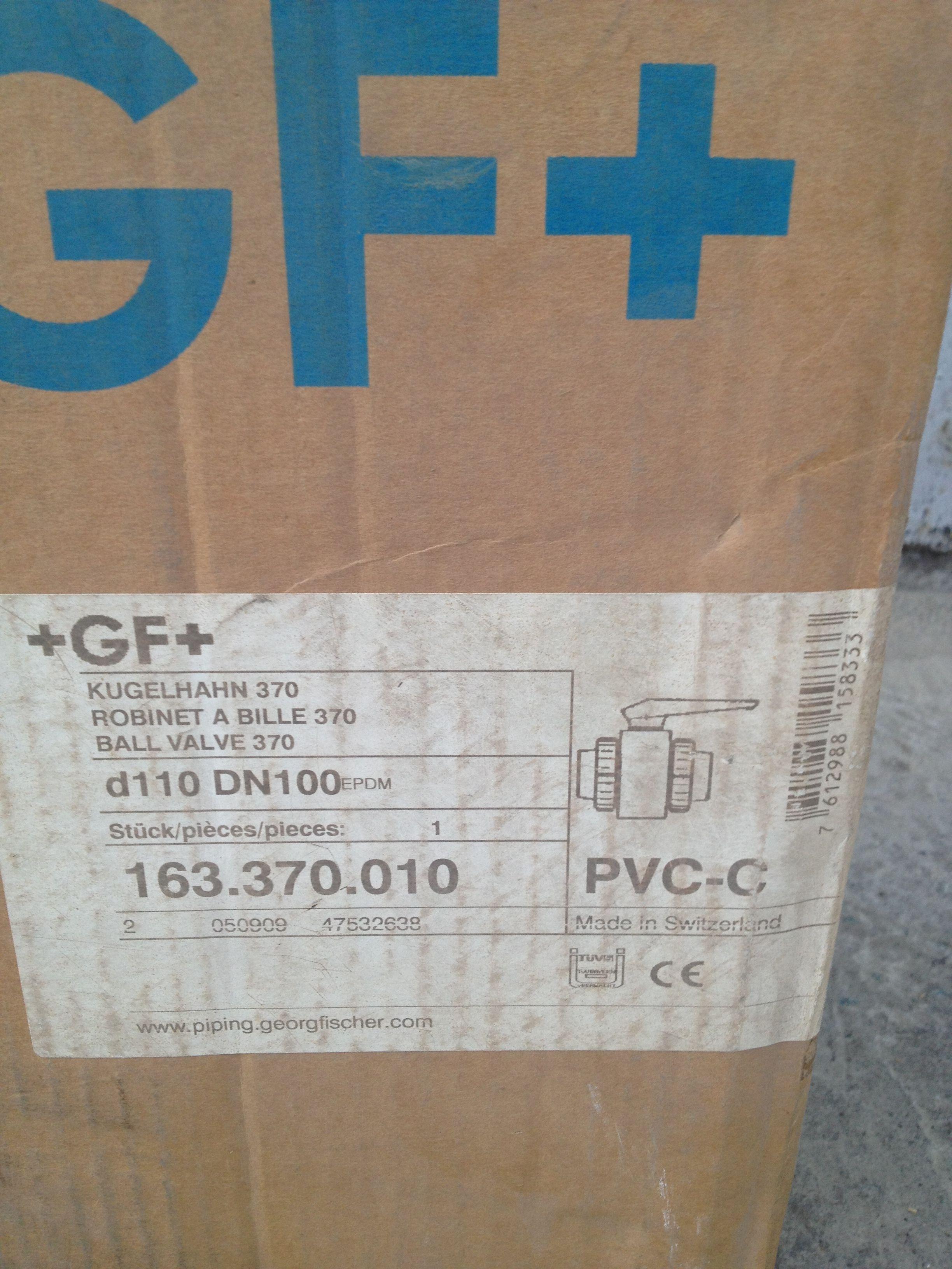 Шаровый кран +GF+ Kugelhahn 370 PVC-C  d-110 DN 100 | Шаровый кран +GF+ Kugelhahn 370 PVC-C  d-110 DN 100 | http://energo-74.ru/images/IMG_0899.JPG