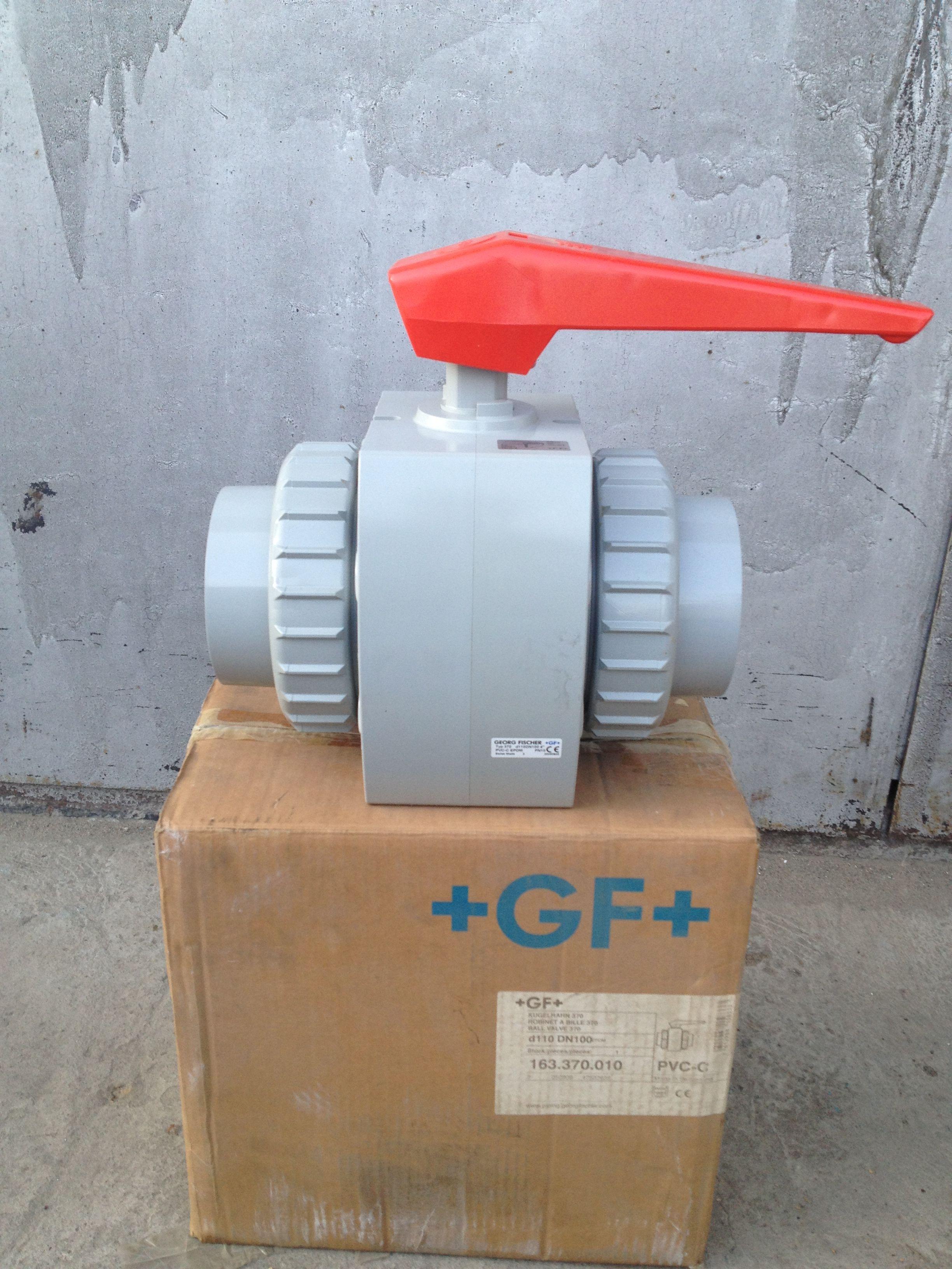 Шаровый кран +GF+ Kugelhahn 370 PVC-C  d-110 DN 100 | Шаровый кран +GF+ Kugelhahn 370 PVC-C  d-110 DN 100 | https://energo-74.ru/images/IMG_0897.JPG
